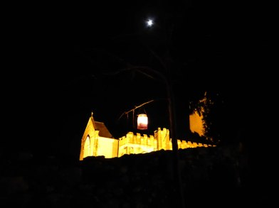 Moon lantern and church