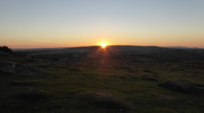 The colours of a Dartmoor Sunset